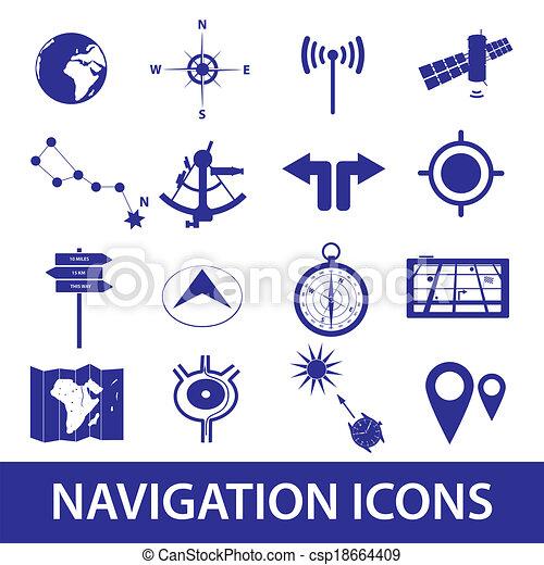 navigace, dát, eps10, ikona - csp18664409
