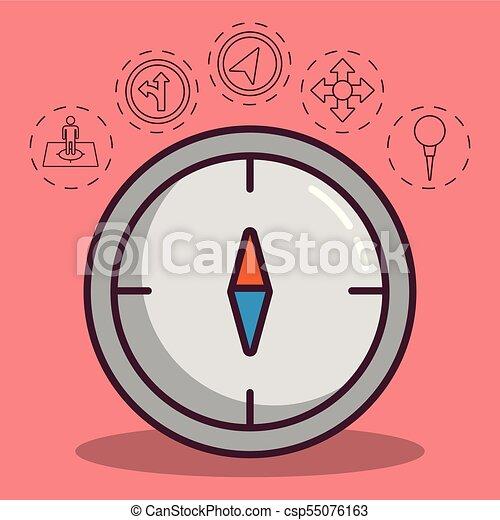 navigation and location design - csp55076163