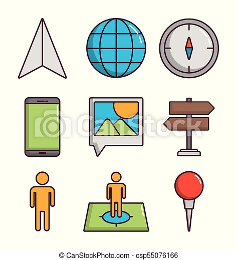 navigation and location design - csp55076166