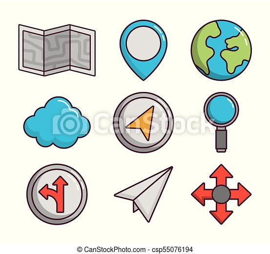 navigation and location design - csp55076194