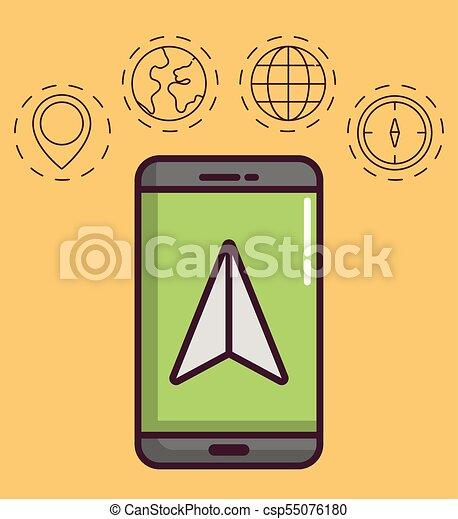 navigation and location design - csp55076180