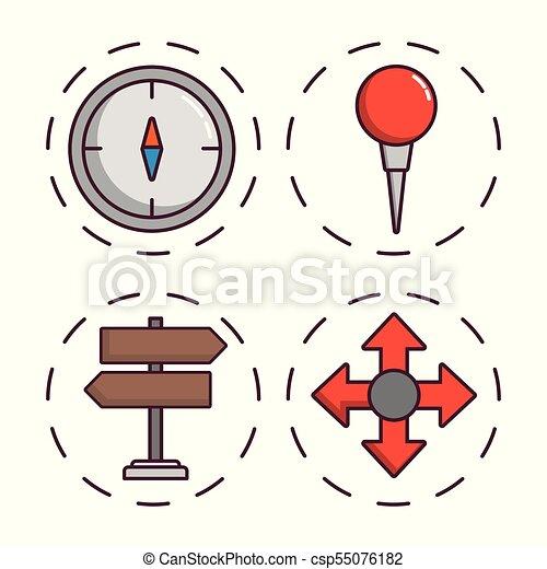 navigation and location design - csp55076182