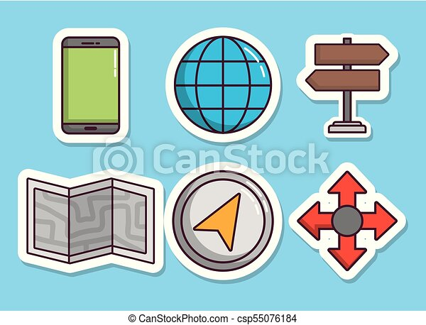 navigation and location design - csp55076184