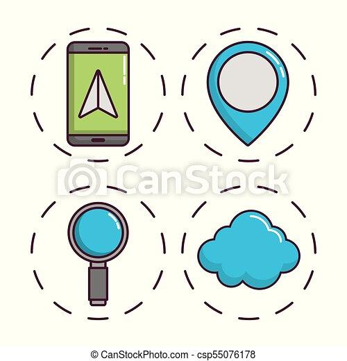 navigation and location design - csp55076178