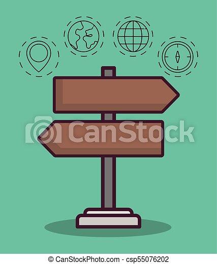 navigation and location design - csp55076202