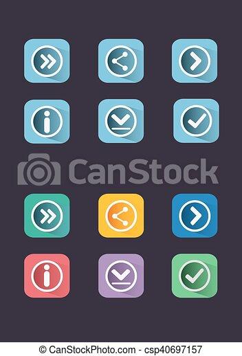 Navigation buttons. - csp40697157