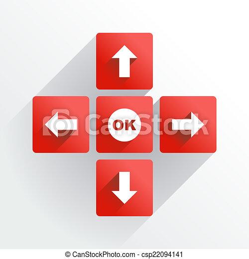Navigation buttons - csp22094141