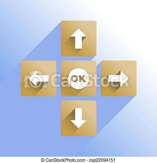 Navigation buttons - csp22094151