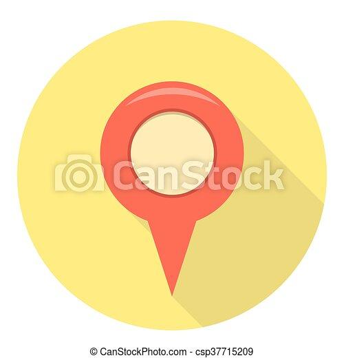 Navigation Location Pin - csp37715209