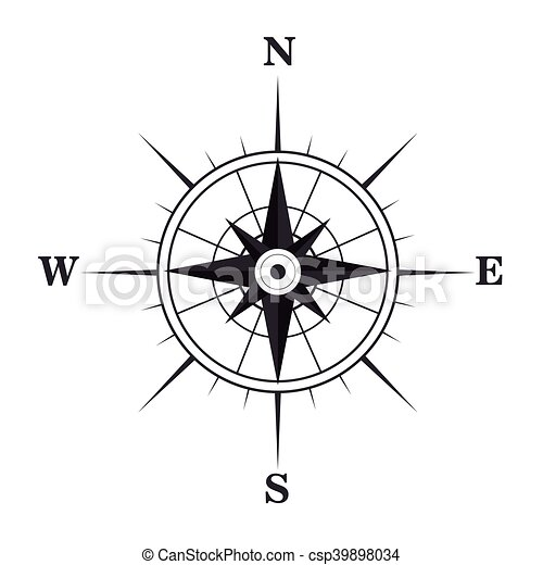 navigation retro compas illustration compas symbole vecteurs search clip art. Black Bedroom Furniture Sets. Home Design Ideas