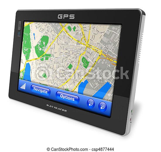 navigator, navigatiesysteem - csp4877444