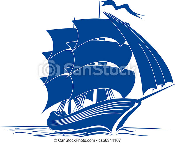 navio, bergantim - csp6344107