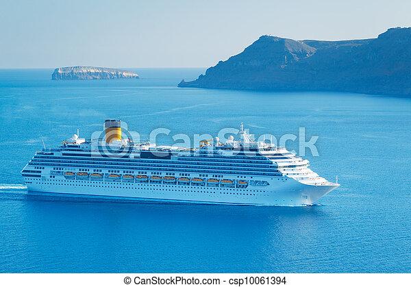 navio, cruzeiro luxo - csp10061394