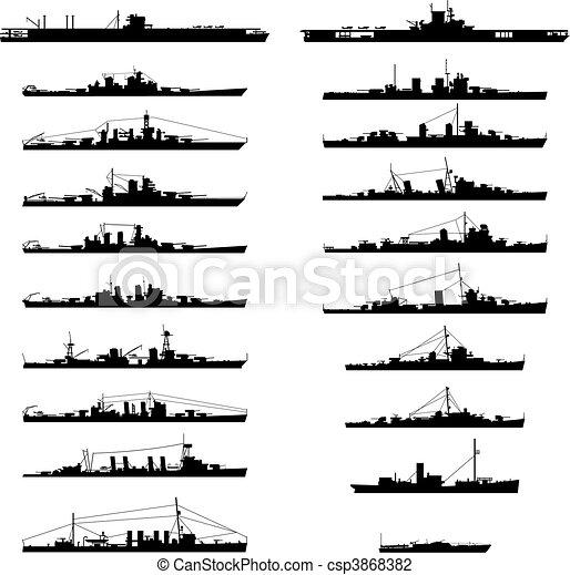 navio guerra - csp3868382
