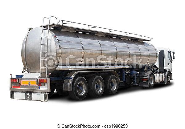 navire-citerne carburant, camion - csp1990253
