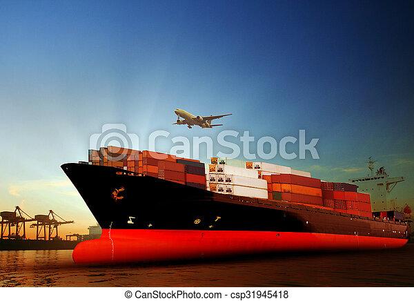 navire porte-conteneurs, importation - csp31945418
