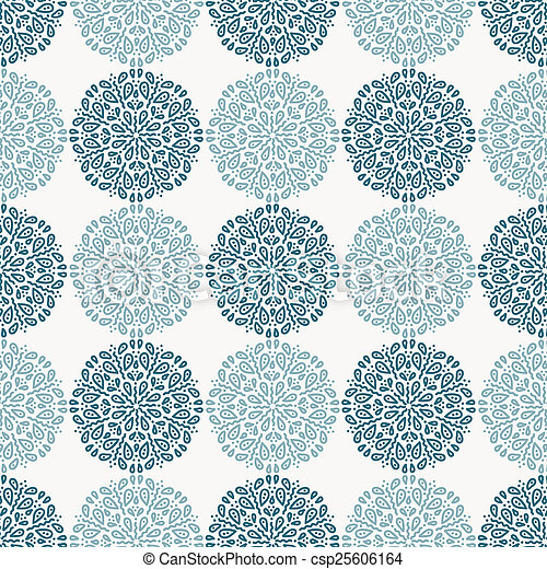 Navy blue lace flower pattern on white background - csp25606164