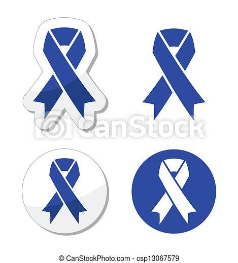 Navy Blue Ribbon Child Abuse The Internationl Symbol Blue