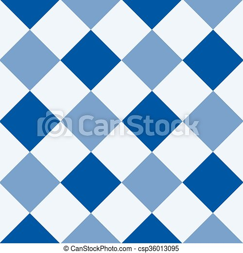 Navy Blue Serenity White Diamond Chessboard Background - csp36013095