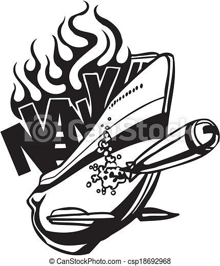 NAVY Military Design - Vector illustration. - csp18692968