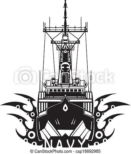 NAVY Military Design - Vector illustration. - csp18692985