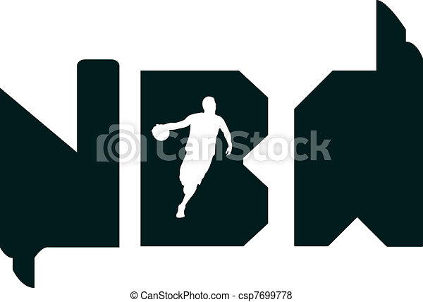 Line Drawing Vector Graphics : Nba typography. this design is also drawn in adobe vector