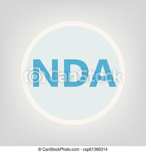 nda, acroniem, (non-disclosure, agreement) - csp61366314