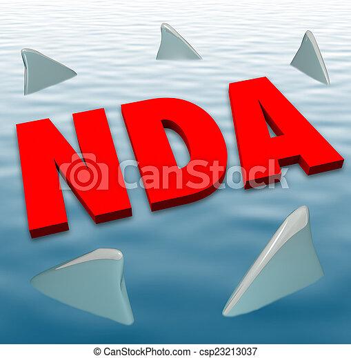 Nda Non Disclosure Agreement Sharks Danger Restriction Sharing S