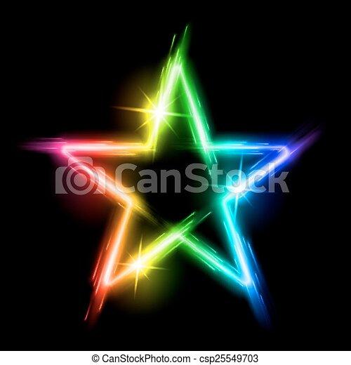 Estrella de neón - csp25549703