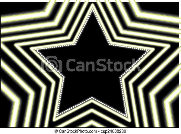 El terreno trasero de Neon Star - csp24088230