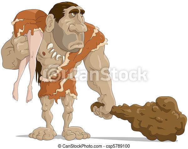 neanderthal, uomo - csp5789100
