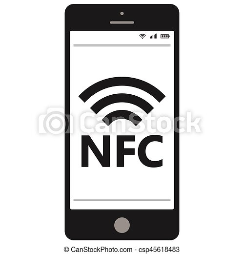 Near field communication, NFC  mobile phone - csp45618483