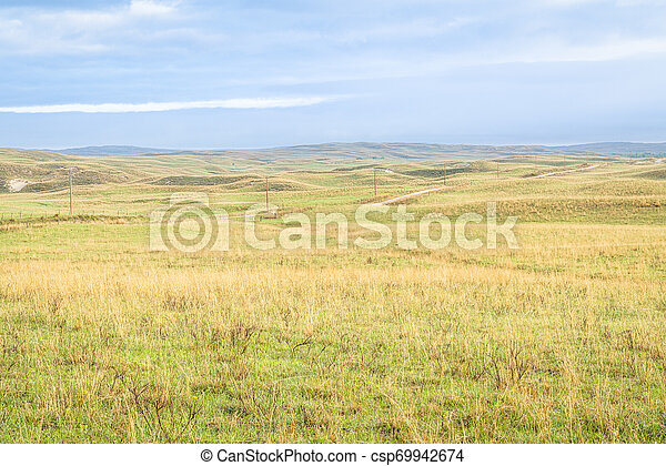 Nebraska Sandhills after heavy rains - csp69942674