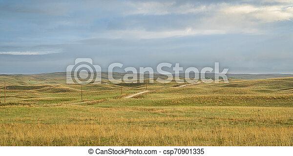 Nebraska Sandhills after heavy rains - csp70901335