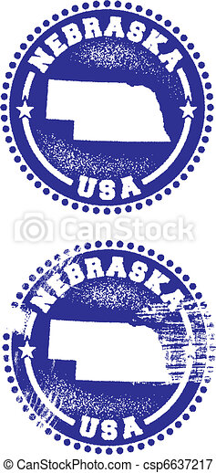 Nebraska USA Stamps - csp6637217