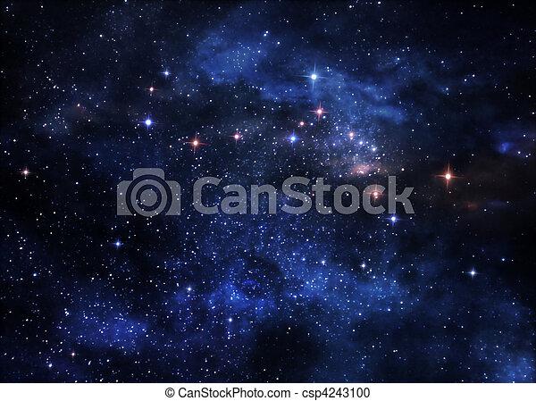 nebulae, profond, espace - csp4243100