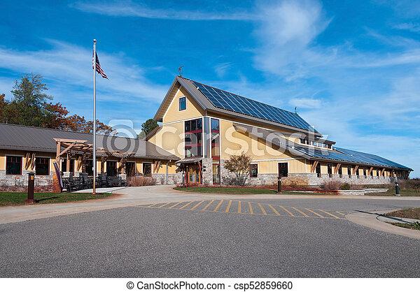 Necedah Refuge Visitor Center Entrance - csp52859660