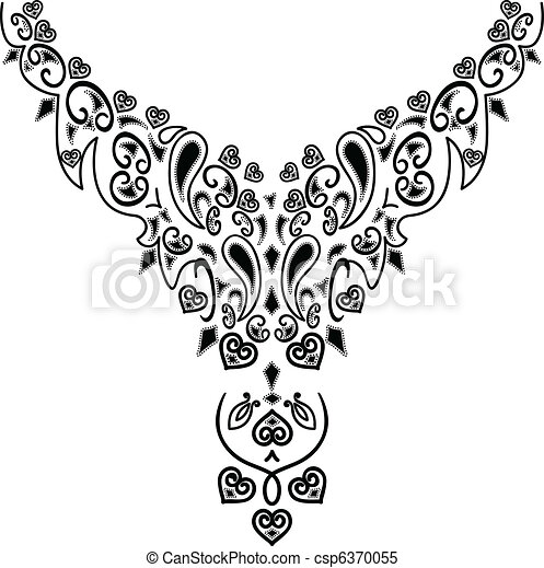 necklace design fashion rh canstockphoto com jewelry clipart black and white jewelry clip art borders