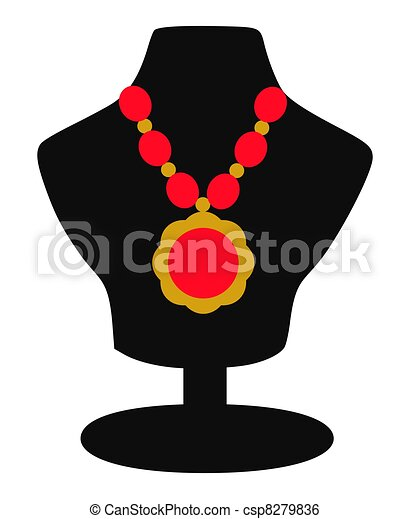 Necklace Jewelery on Display Icon - csp8279836