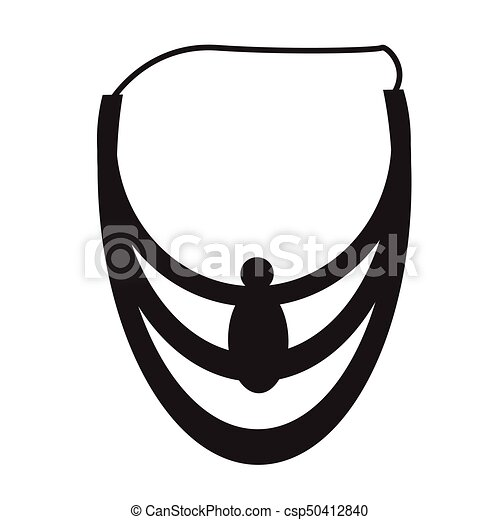 Necklace silhouette illustration - csp50412840