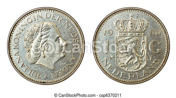 nederländerna, sällsynt, retro, mynt - csp6370211
