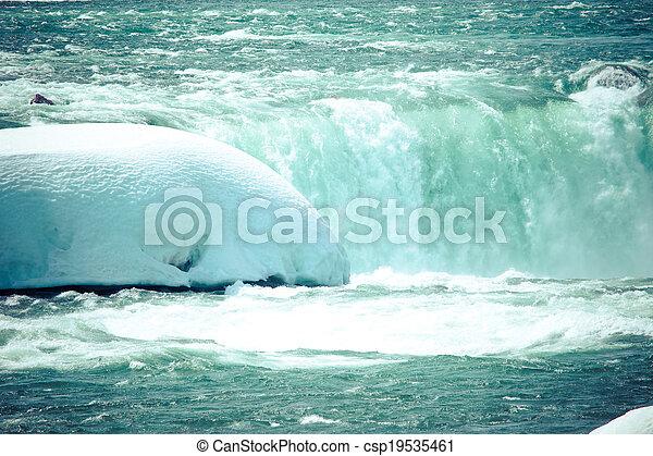 nedgångar, winter., niagara - csp19535461