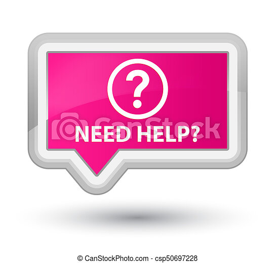 Need help (question icon) prime pink banner button - csp50697228