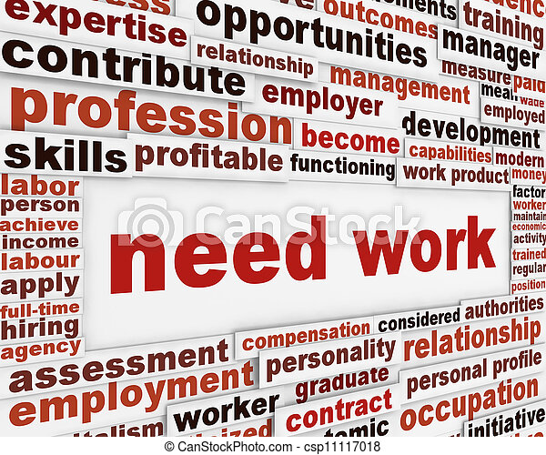 Need work poster design - csp11117018