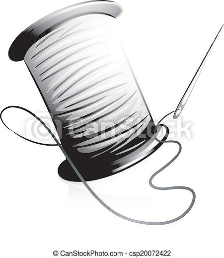 Needle and Thread Icon - csp20072422