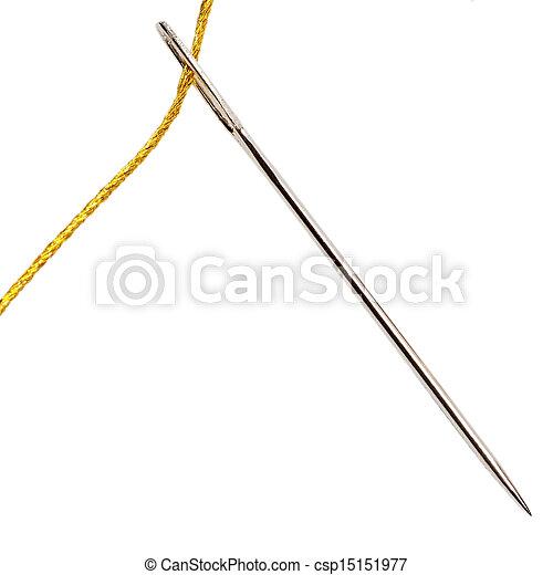 Needle with thread - csp15151977