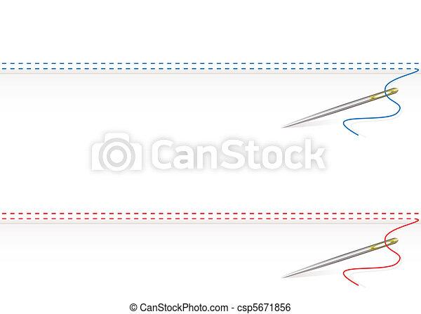 Needle work border - csp5671856