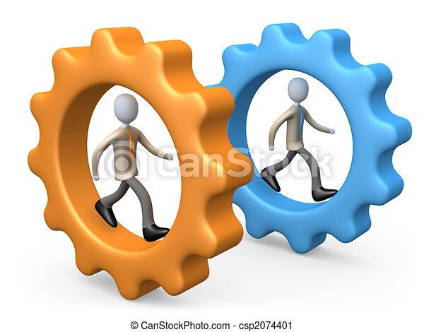 negócio, competição - csp2074401