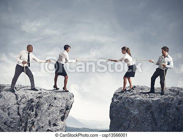 negócio, competição, equipe - csp13566001