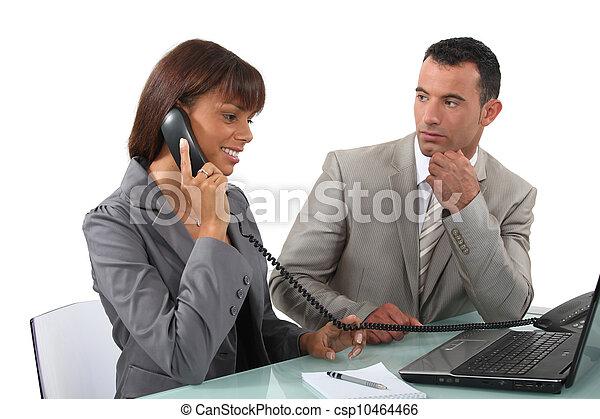 negócio, duo - csp10464466